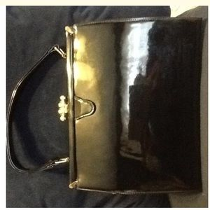 Saks Fifth Avenue Bags - Saks Fifth Avenue Vintage Patent Leather Satchel